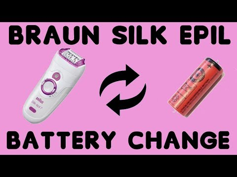 How to replace broken battery in Braun Silk-epil 7